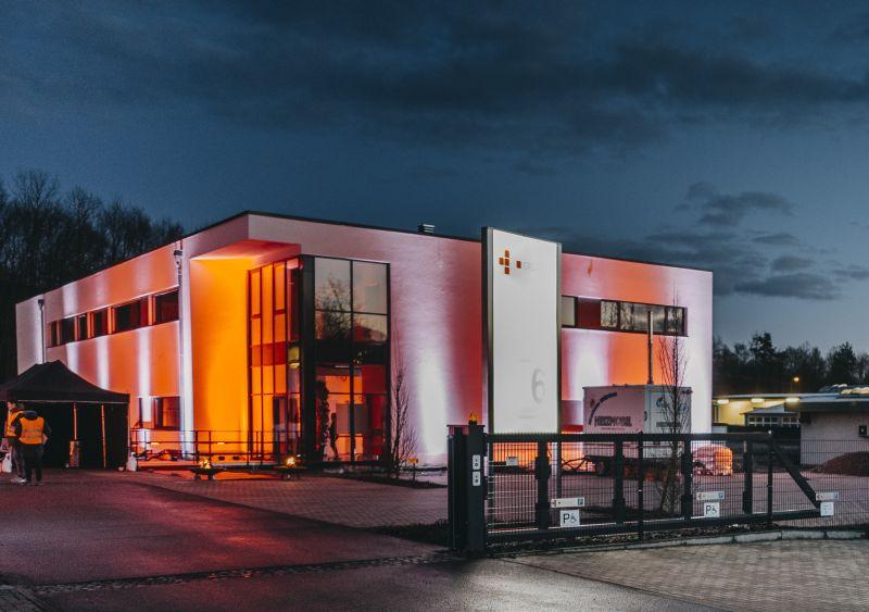 Neubau Produktionshalle für CRS medical in Aßlar